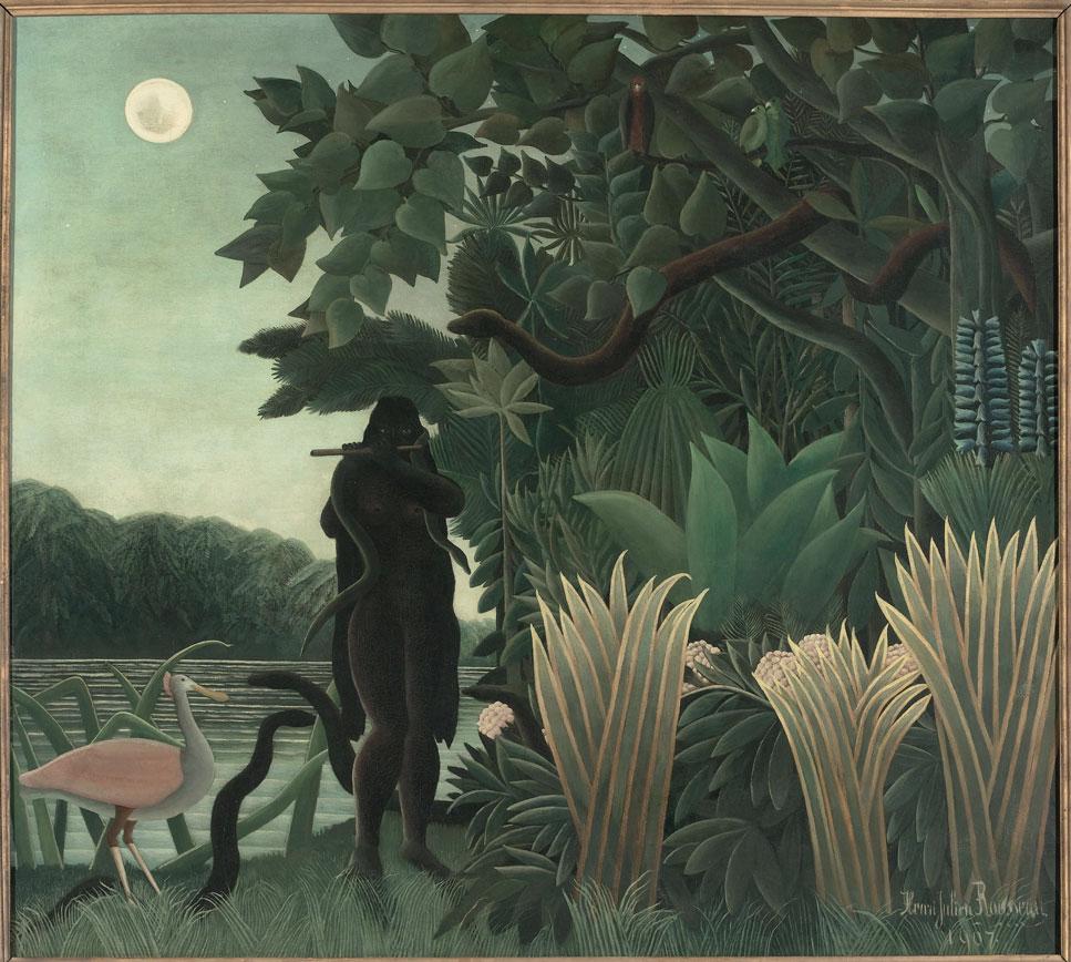 1. Henri Rousseau - La Charmeuse de serpents/ L'Incantatrice di serpenti   1907   olio su tela, cm 167 x 189,5   Parigi, Musée d'Orsay   © RMN-Grand Palais (Musée d'Orsay)/Hervé Lewandowski